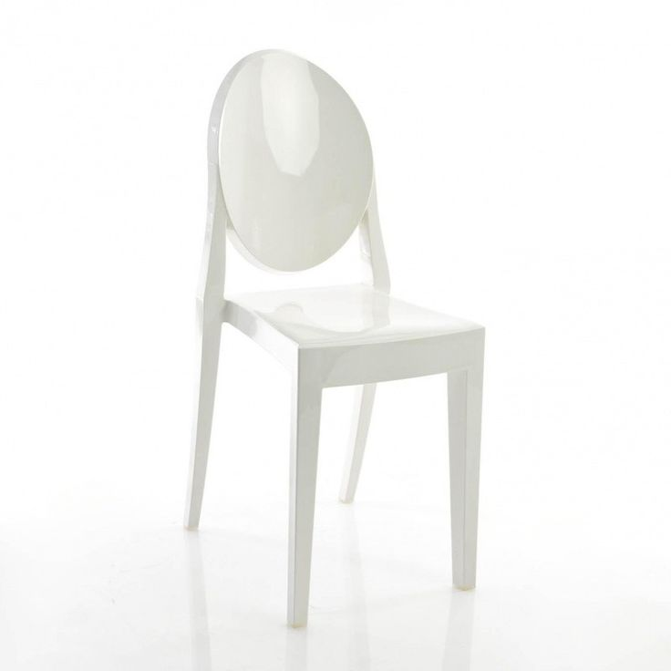 Kartell - Victoria Ghost - Chaise - blanc/opaque/brillant