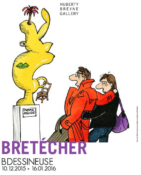 Claire Bretécher BDessineuse expose chez Huberty et Breyne à Paris - http://www.ligneclaire.info/bretecher-paris-32324.html