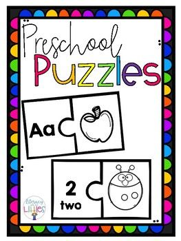 One puzzle lets little learners practice identifying beginning sounds and matching to the correct letter. The second puzzle lets students count and match to the corresponding number and number word. Print on bright paper and laminate.