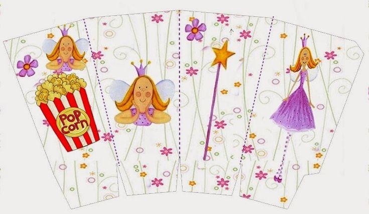 Princesa de las Hadas: Cajas para Imprimir Gratis.