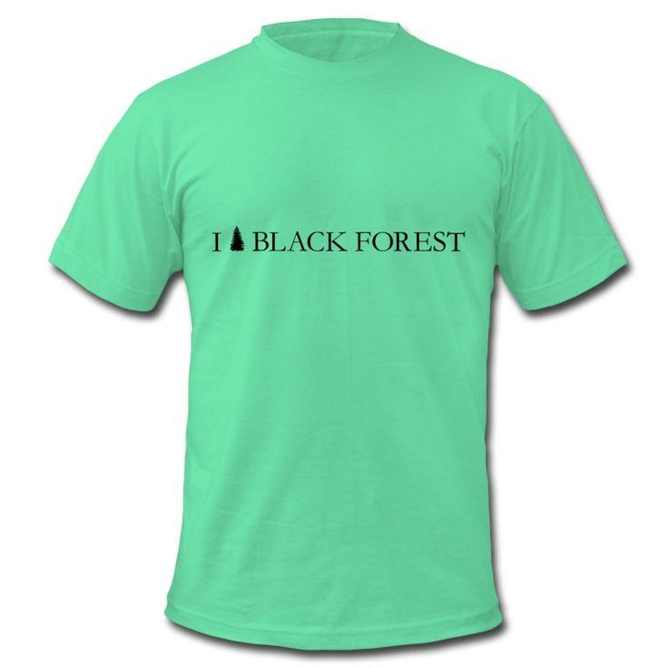 Männer T-Shirt von American Apparel Motiv: I <3 BLACK FOREST klassik Der T-Shirt-Klassiker aus Los Angeles: American Apparel steht synonym für urbane und coole Basics in einer riesigen trendigen Farbauswahl. Und dass die Qualität dabei auch noch stimmt, versteht sich von selbst.