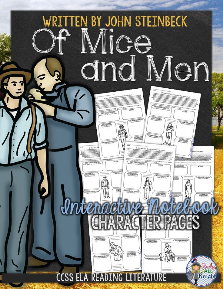 Of Mice and Men: Interactive Notebook Character Pages ($)