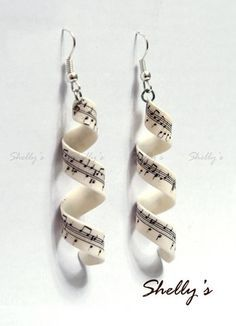 repinned from Polymer Clay Ideas, how clever is this? Stamped clay, twirled, twisted and baked! This is music to my ears. Literally.