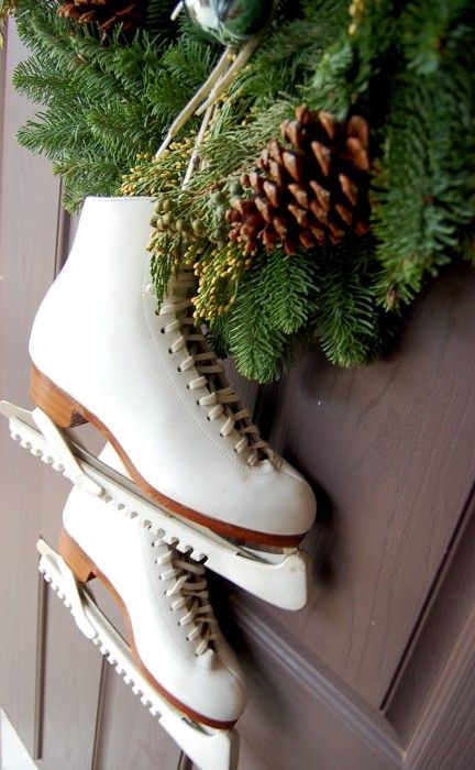 Decorating With Ice Skates For The Holiday Season