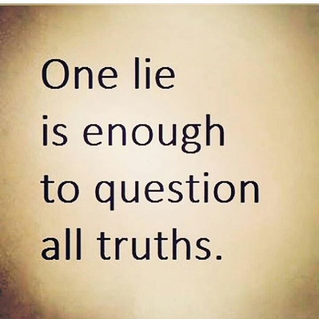 One lie is all it takes                                                       …