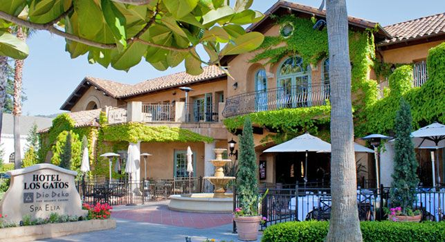 Hotel Los Gatos. A beautiful luxury hotel. Great for visiting guests or an overnight getaway. Dio Deka restaurant is also located in this hotel.