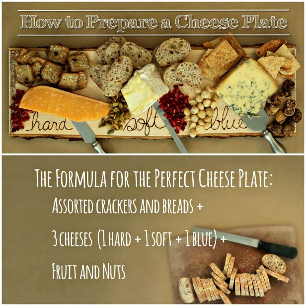 The Perfect Cheese Plate (http://blog.hgtv.com/design/2013/11/26/how-to-make-the-perfect-cheese-plate/?soc=pinterest)
