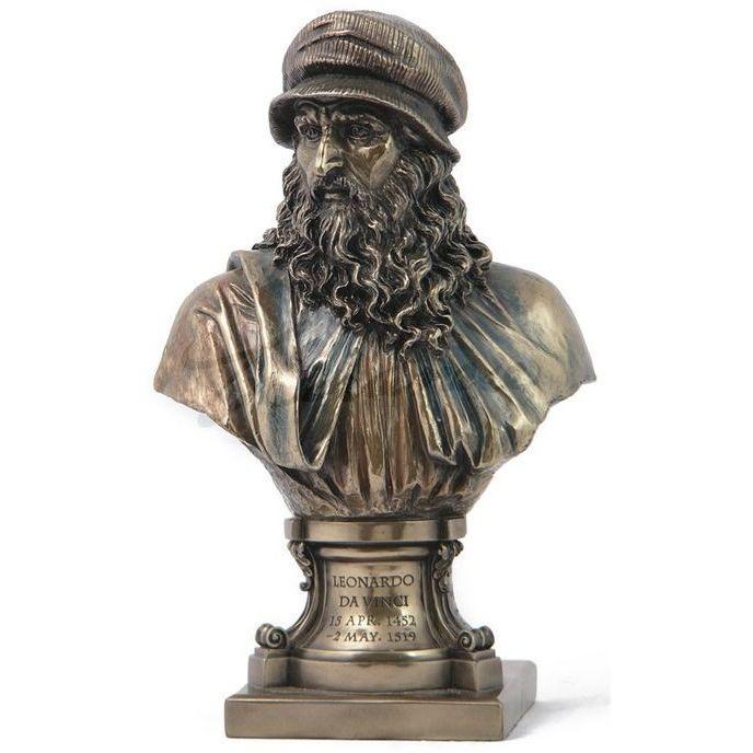 Leonardo Da Vinci Bust Italian Renaissance Artist Statue