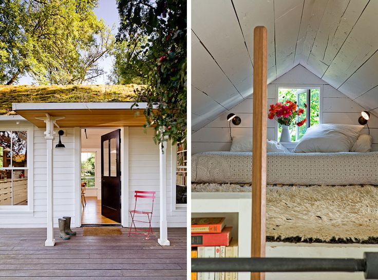 tiny house pictures | 540 square feet home with green roof on Sauvie Island, about 15 ...
