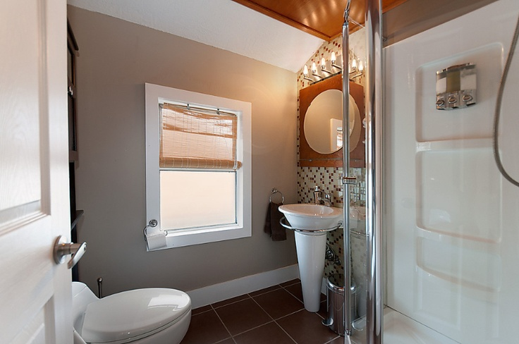 Thoughtful details in this bright and private suite,   #Vancouver #Hotels #Rentals #Bathroom