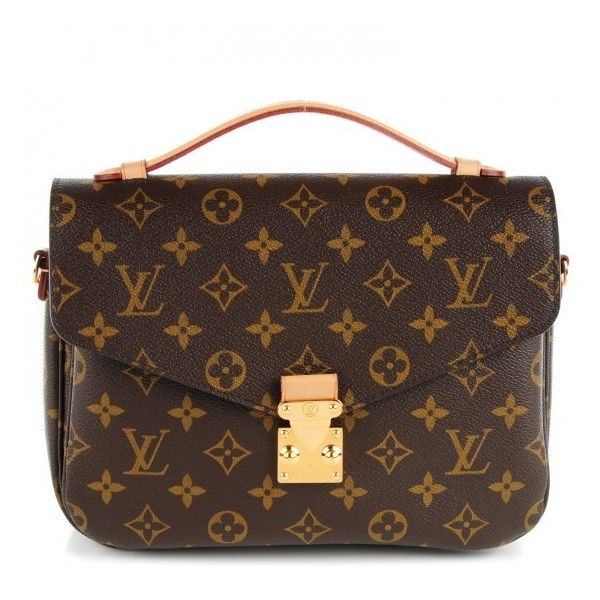 LOUIS VUITTON Monogram Pochette Metis ❤ liked on Polyvore featuring bags, handle bag, flap lock bags, louis vuitton, louis vuitton messenger bag and messenger bags