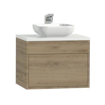Tiger Helsinki badkamermeubel 60 cm chalet eiken met waskom kopen? Verfraai je huis & tuin met Badkamermeubelen van KARWEI