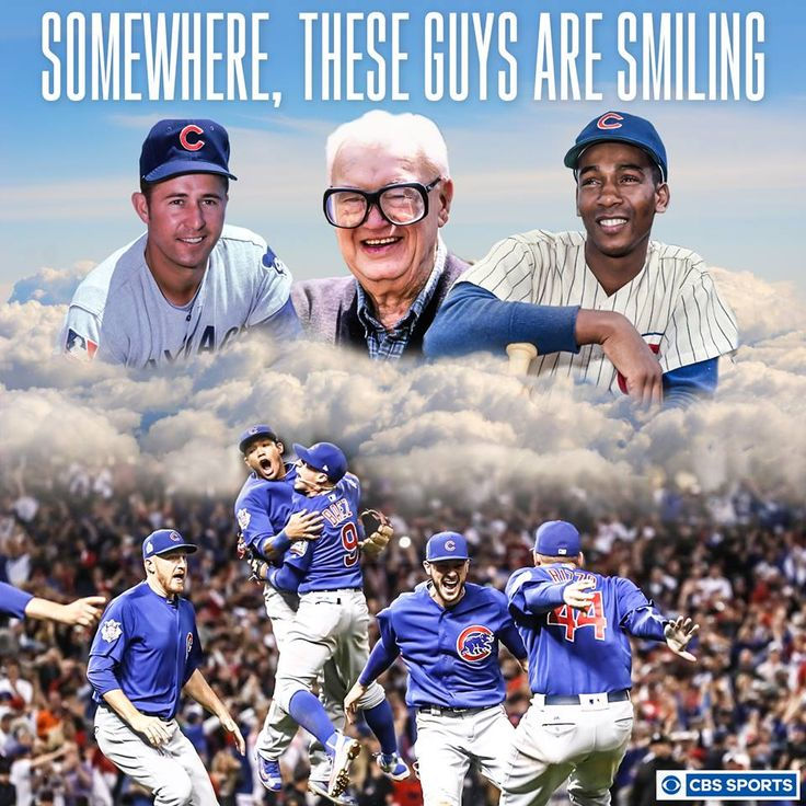 My oh my, how long the Chicago Cubs have waited for this. OMGAH, I just found this...I got chills all over my body & started tearing up