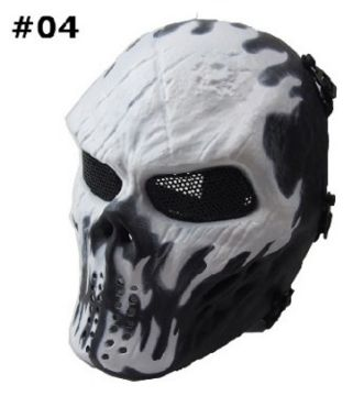 This tactical skull mask is perfect for war games, paintball and air soft. Made of high quality resin and full coverage. This skull mask can be used for parties, for cosplay, or scare little kids! des
