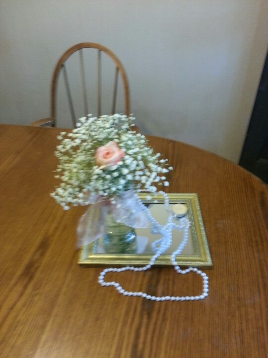 My niece's center pieces for her wedding..sweet!