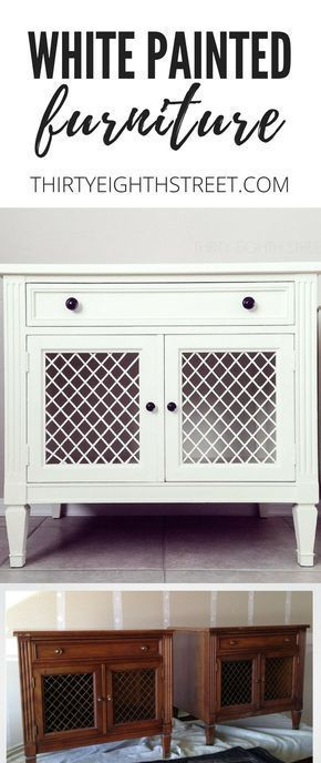 Chalk Painted Furniture! 5 GREAT Tips For Painting Furniture With Chalk Paint®️️️️️! GORGEOUS White Painted Furniture Before and Afters. | Painting Furniture. How To Paint Furniture. Chalk paint furniture. White Painted Nightstands. #chalkpaint #chalkpaintfurniture #paintingfurniture