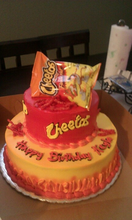 Hot Cheetos Birthday Cake Freakin Hot Cheetos