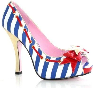 americaaaa: Marina Shoes, Pumps, Costume, Marina Adult, 4Th Of July, Legs Avenu, High Heels, Sailors, Adult Shoes