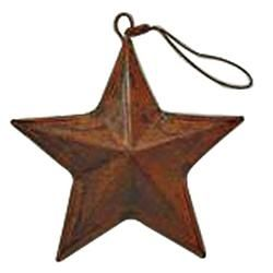 "Rusty 3D Tin Star 3.5"" - $3.99"
