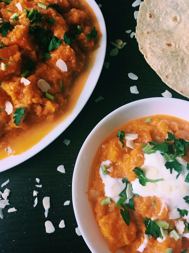 Butternut squash in curry style
