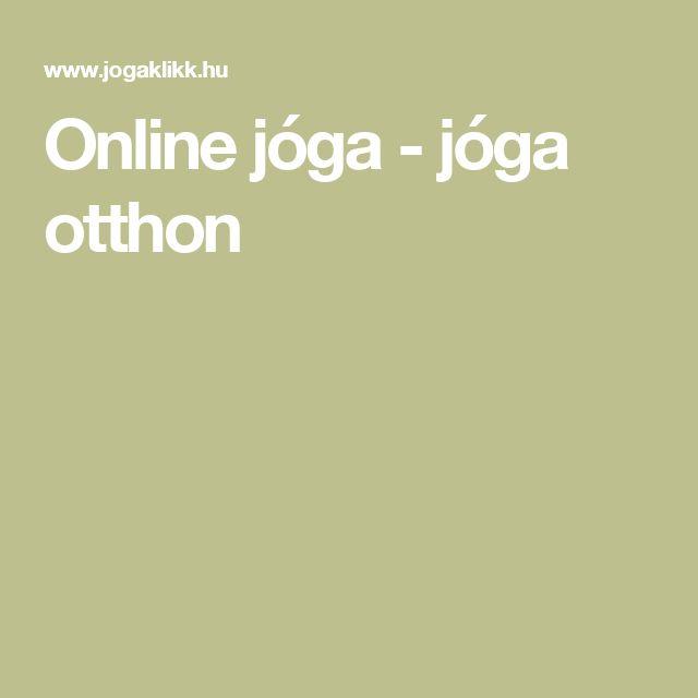 Online jóga - jóga otthon