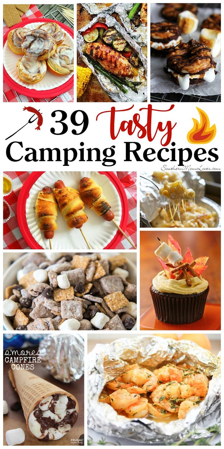 You guys, I'm so excited! It's the perfect time to go camping and I can't wait to get out there with the family. Part of camping for me is eating fun and delicious foods cooked over a fire, so I'm sharing 39 tasty camping recipes with you for your next outdoor adventure. If you're not the outdoorsy type, you can also make some of these on a grill and still enjoy campfire foods. You'll also find some fun things to make ahead to bring on your trip, so let's get started!