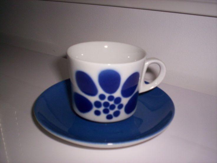 Arabia sininen TASSU kahvikuppi ja tassi 1-4 kpl - Huuto.net