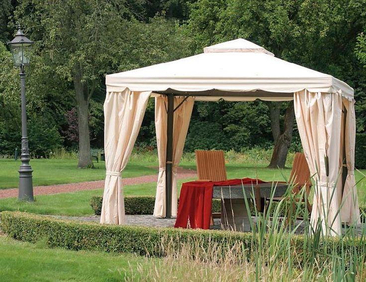 Beautiful Siena Garden Dubai Alu Pavillon xm anthrazit natur Gartenm bel von Garten u Freizeit