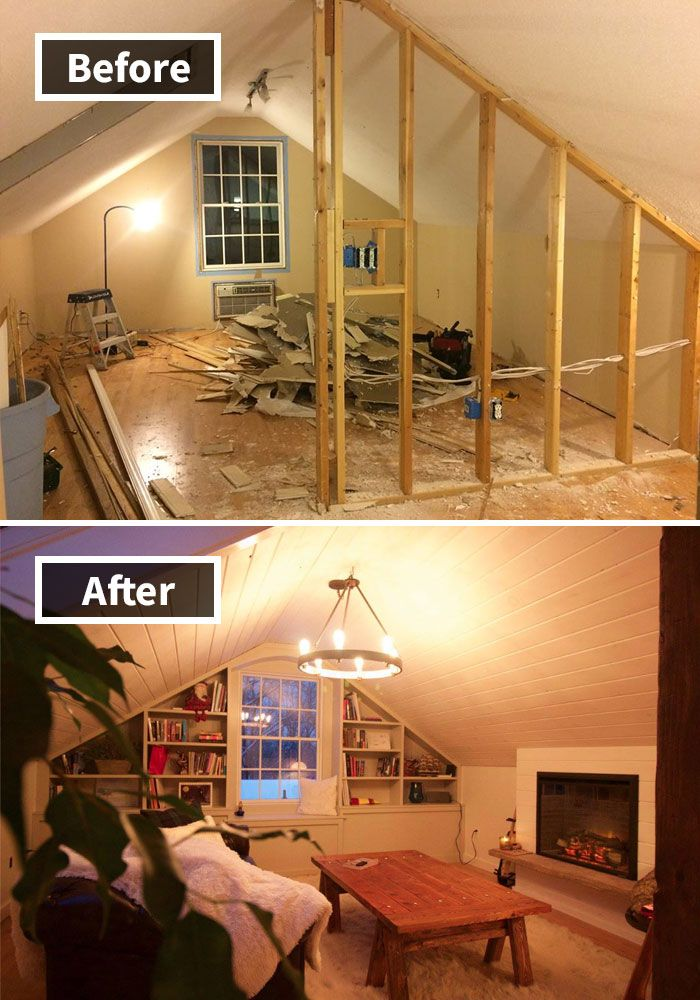 Living Room Attic Remodel