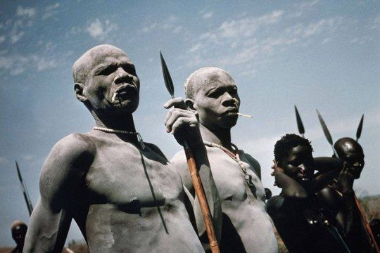 """From the series """"The Nuba"""", 1962 - 1977. Photo by Leni Riefenstahl"""