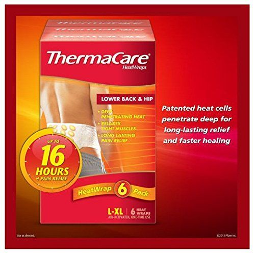 Thermacare Air Activated Heat Wraps  6 Back  Hip Onetime Use Wraps  Size Lxl -- Learn more by visiting the image link.