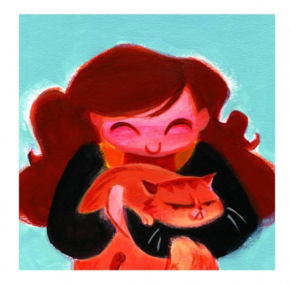 Casey Robin's Adorable Harry Potter Illustrations: Hermione and Crookshanks
