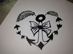 Download Free about Anchor Bow Tattoos on Pinterest | Bow Tattoos Anchor Tattoos ... to use and take to your artist.