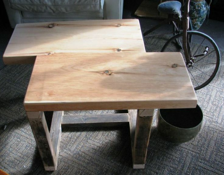 Kijiji SALE RECLAIMED WIDE PLANK OFFSET COFFEE TABLE