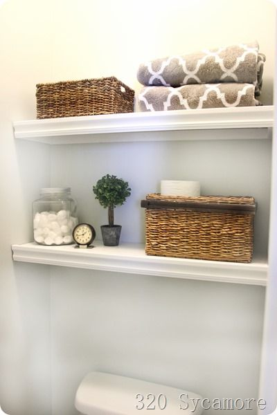 Best 25 shelves over toilet ideas on pinterest toilet for Washroom storage ideas