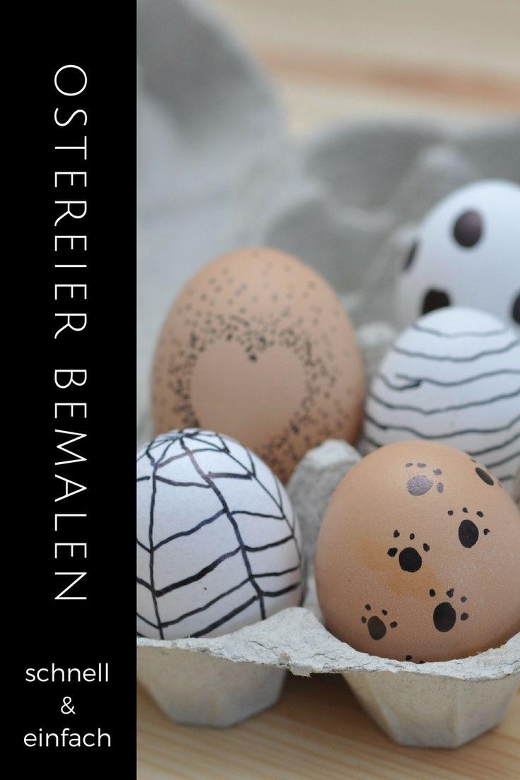 Du hättest gerne dieses Jahr eine etwas andere Osterdeko? Auf meinem Blog zeige ich dir 5 schnelle und einfache Dekoideen für deine Ostereier!