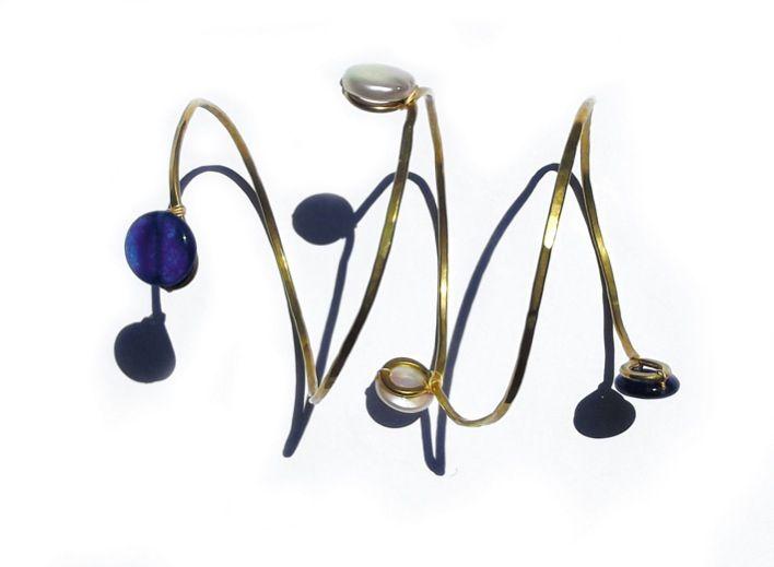 Blue agatha and pearls