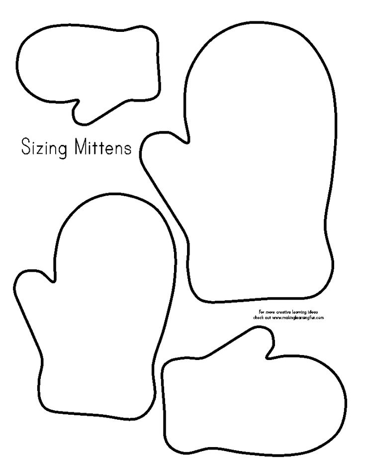 It's just a picture of Enterprising Mitten Template Printable