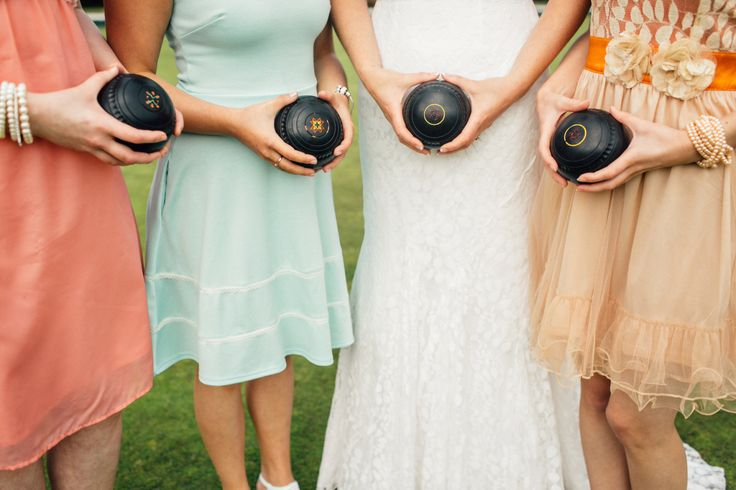 Lawn bowling club wedding