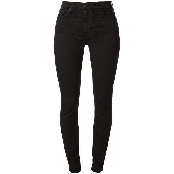 SEVEN JEANS 'The Skinny' Jeans found on Polyvore featuring polyvore, women's fashion, clothing, jeans, pants, bottoms, leggings, black, skinny jeans and skinny fit jeans