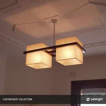 Deco Pendant Light - Satelight - Square box shade pendant light