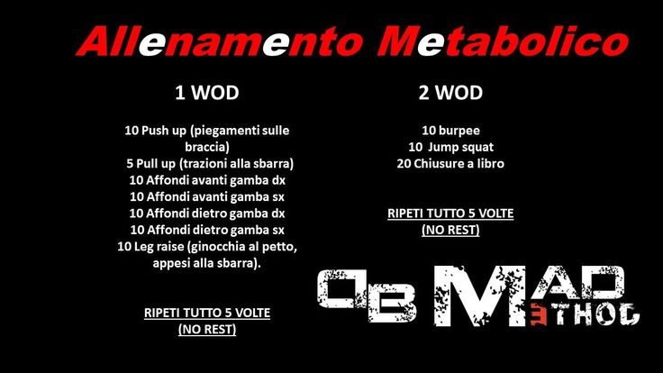 ALLENAMENTO METABOLICO by DB MAD METHOD www.danielebertaggia.it #personaltrainer #rovigo #firness #dbmadmethod