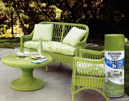 Home Dzine How To Re And Revamp Wicker Furniture Painted