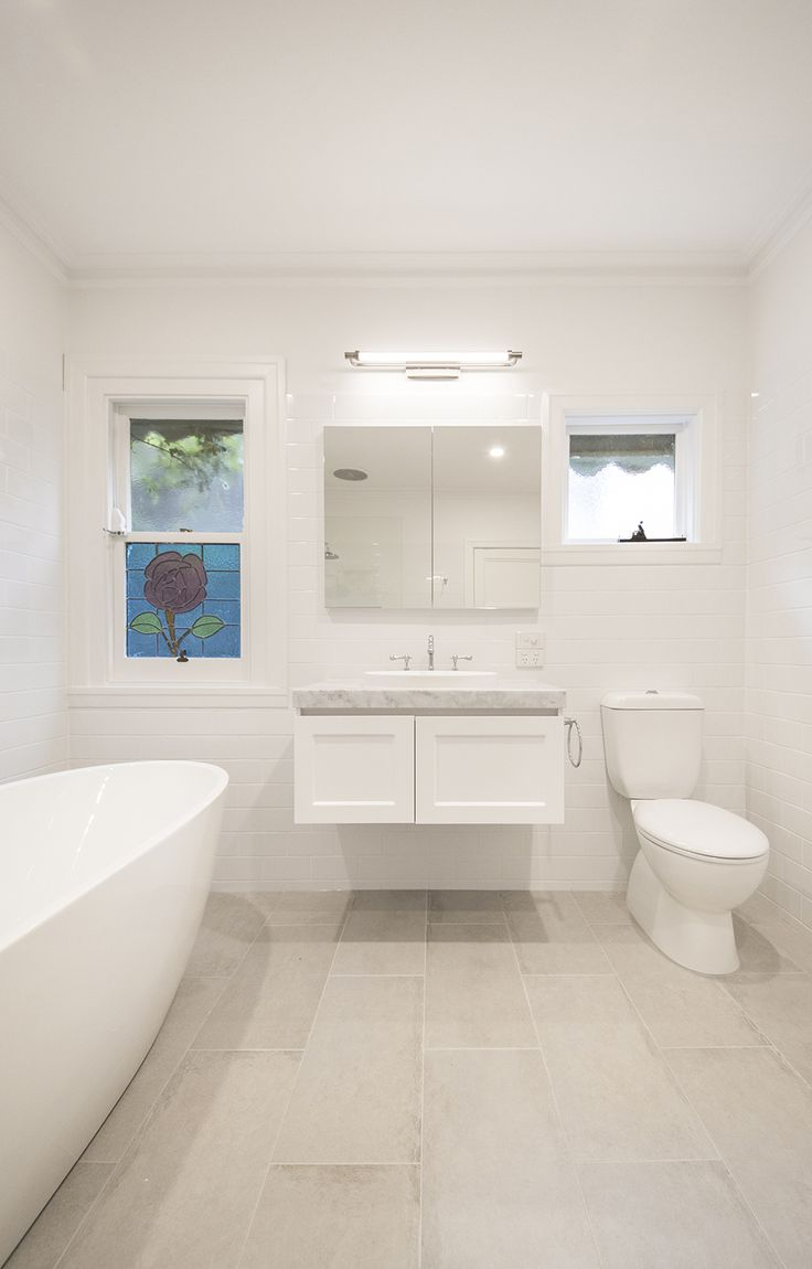 A Traditional White And Grey Heritage Bathroom Renovation