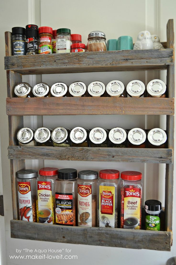 17 best images about pallet projects on pinterest pallet for How to make a spice rack out of pallets