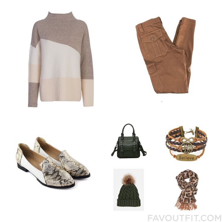 Ootd Ideas Including French Connection Sweater Cargo Pants Flats And Tote Purse From November 2016 #outfit #look