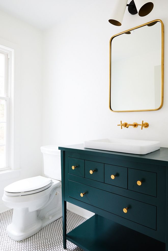 Vanity Is Painted Benjamin Moore 2041 10 Hunter Green Green
