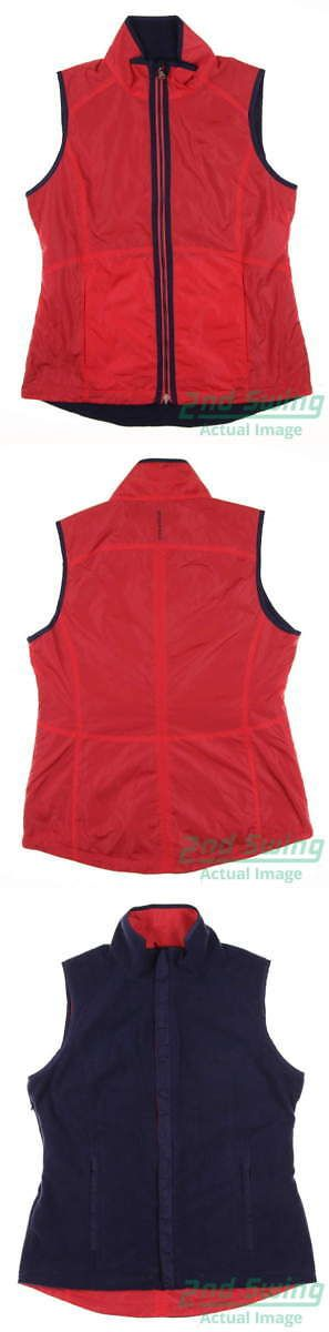 Other Womens Golf Clothing 181152: New Womens Zero Restriction Golf Reversible Vest Medium M Multi Msrp $140 -> BUY IT NOW ONLY: $89.99 on eBay!