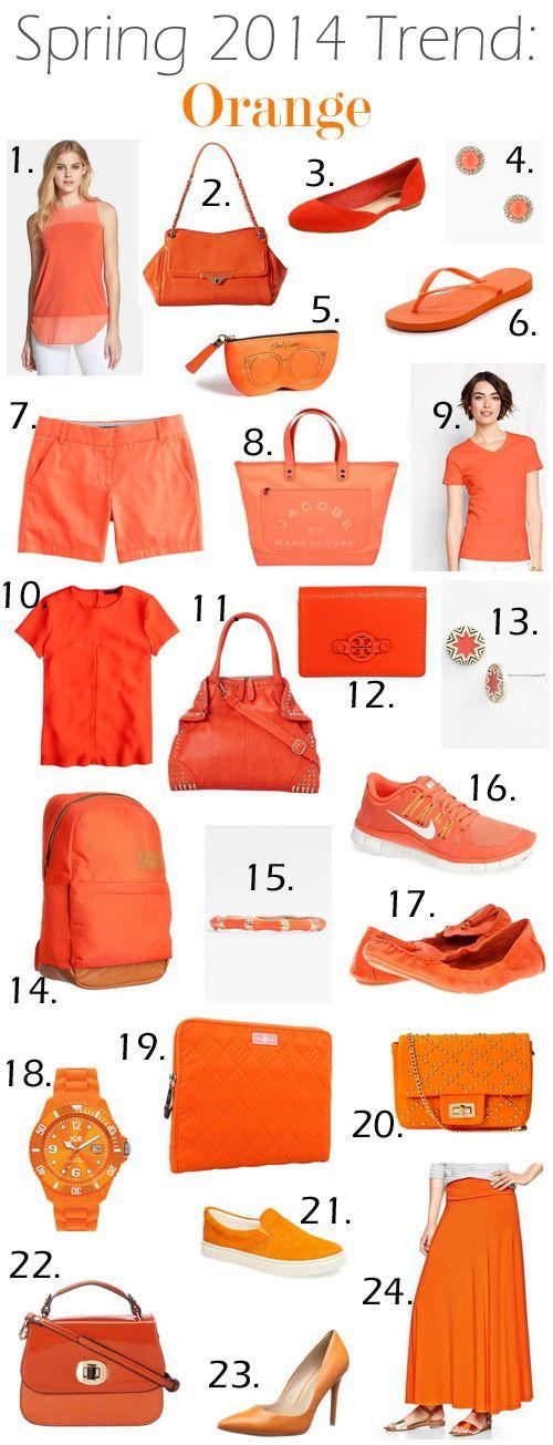 Spring 2014 Trends - Orange