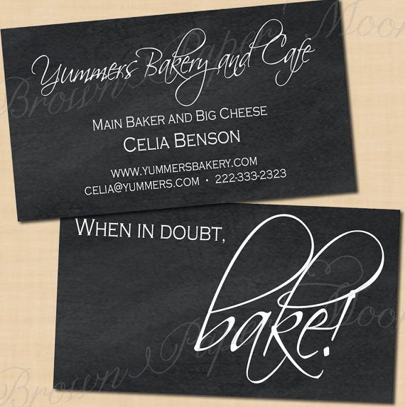 Chalkboard Business Cards (2x3.5) TextEditable in